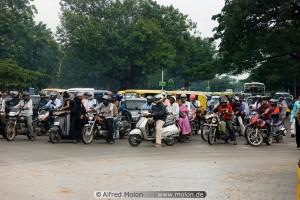 11 Motorbikes on street